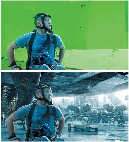 how does green screen work